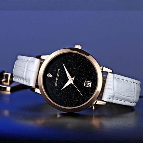 Relógio Feminino De Pulso Sanda P194 Promoção Quartzo Barato