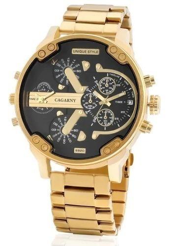 Relógio Masculino Cargany Grande E Estiloso Top Original