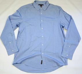 Camisa Michael Kors Classic Fit L Azul Cleotildes Closet
