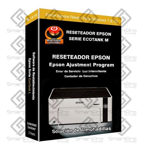 Reset Epson M100 M105 M200 M205 M1120 L1300 L1800 L395 L495