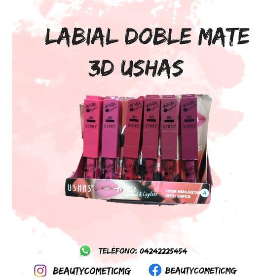 Labial Doble Loquido + Barra 2 En 1 Matte Ushas