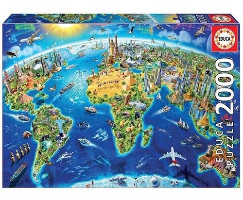 Rompecabeza Puzzle Educa X 2000 Piezas Símbolos Del Mundo