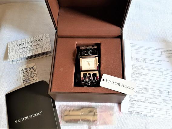 Relógio Victor Hugo Original Vh10022lss/28m Inox Silver