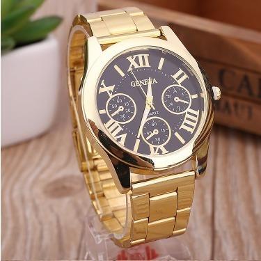 Relógio De Luxo Feminino (dourado, Prata)