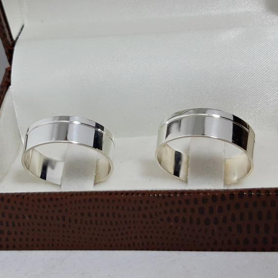 Par Aliança Prata Compromisso Noivado Casamento