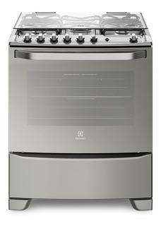 Cocina Electrolux 76sas Acero 76cm 5 Hornallas Selectogar
