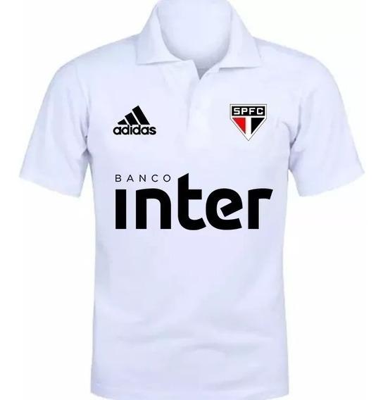 Camisa Camiseta Polo Torcedor Time São Paulo Lançamento 01
