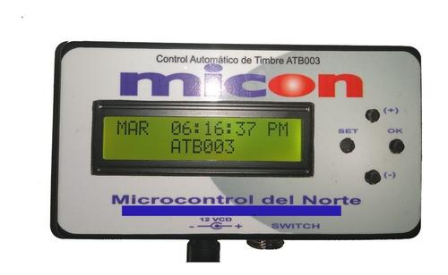 Imagen 1 de 5 de Control Automatico De Timbre Programable Escolar Atb003