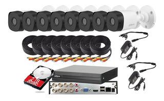 Kit Video Vigilancia 8 Cámaras Fhd 1080p Dahua Cctv 2 Tb