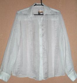 Camisa Feminina Branca Semi Nova=gg=120 Cm Busto
