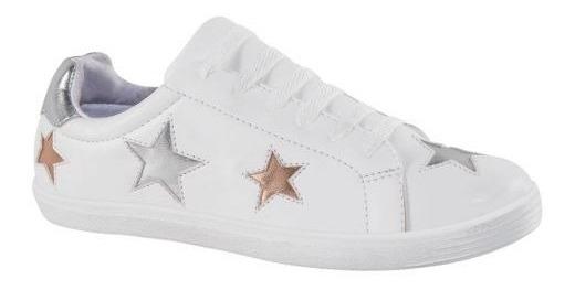 Tenis Casual Mirage Blanco Estrellas Metálicas Urb 178632