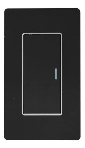 Interruptor Sencillo De Lujo Negro Espejo