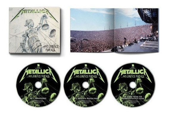 Metallica And Justice For All Deluxe 3 Cd Nuevo Stock Import