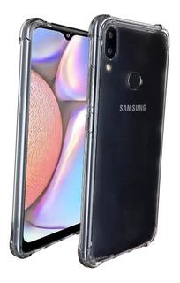 Capa Case Anti Shock + Película De Vidro 3d Samsung A10s