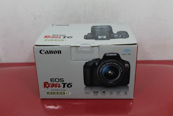 Câmera Fotográfica Canon T6 Rebel T6 +bolsa+cartão De 32gb