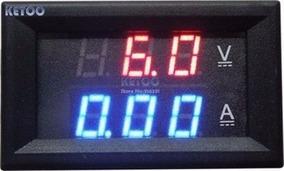 Voltímetro Amperímetro Digital Dc 100v 10a Som Bateria Carro