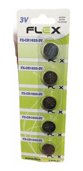 Kit 50 Pilhas Cr1632 Flex Alcalina Atacado