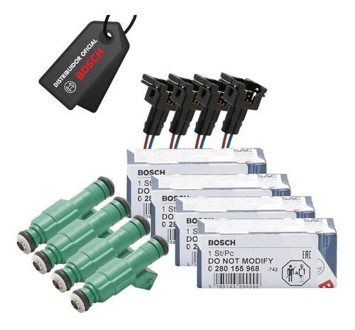 Jogo 4 Bicos Injetor Green Giant 42lbs/h + 4 Conectores.