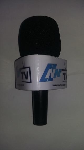 Canopla Para Microfone Profissional Em Madeira (triangular)