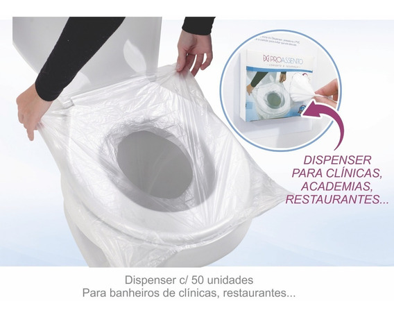 Protetor Assento Sanitário Proassento 06 Dispenser 50 Und Ca