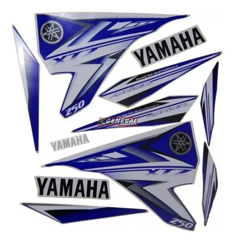 Kit Adesivo Faixas Moto Yamaha Lander 2009/10 Azul