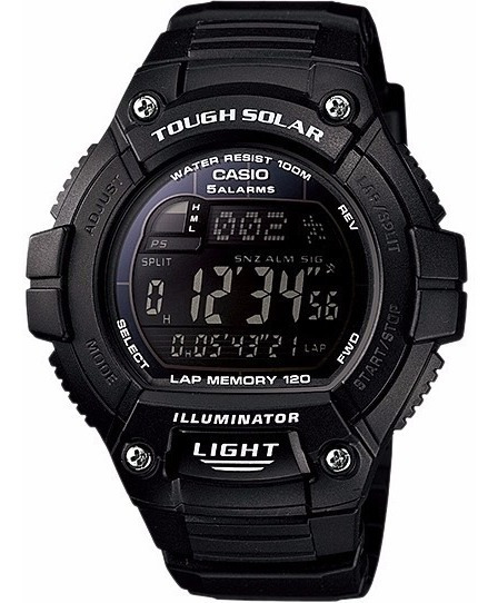 Relógio Casio W-s220 1bv Solar 5 Alarmes Cronometro Wr100 Pp