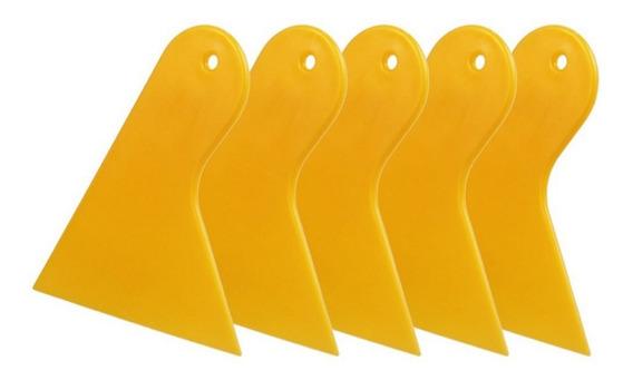 Kit 05 Espátulas Aplicação Insulfilm Mini Batedor Amarelo