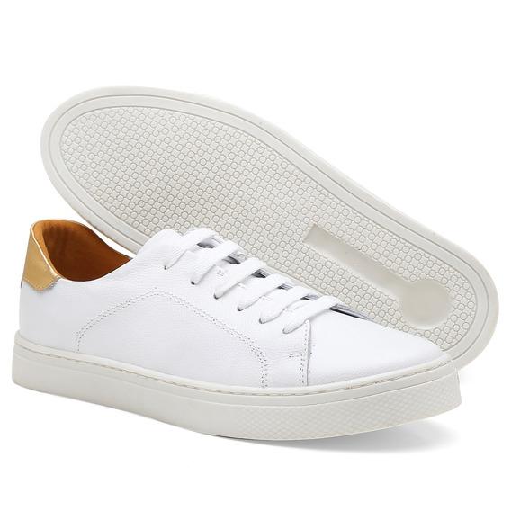 Tênis Feminino Sapato Casual Leve Super Confortável Couro