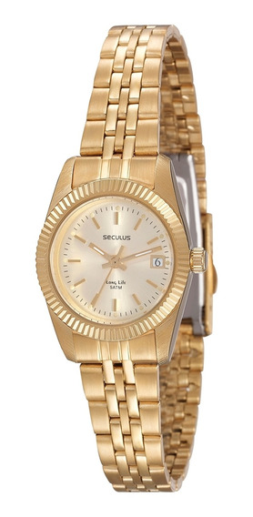 Relógio De Pulso Seculus Feminino 25538lpsvda1 - Dourado