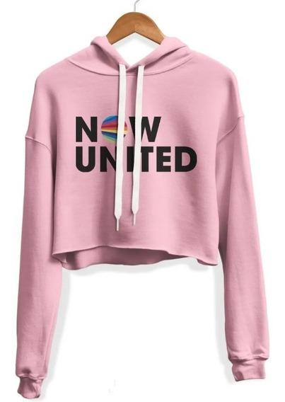 Cropped Feminino Blusa Now United Moletom Casaco - Promoção