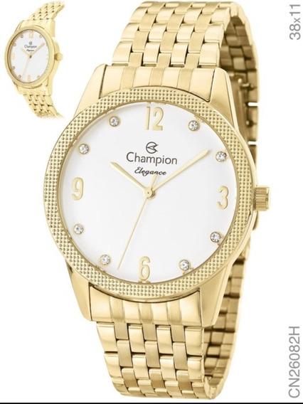 Relógio Champion Feminino Dourado Cn26082h