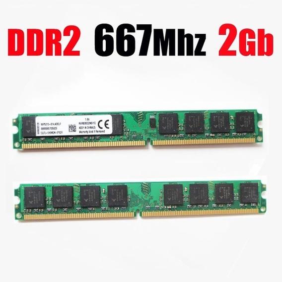 2 Memórias Ddr2 Kerrit 2gb/667mhz Para Desktop - Lacradas