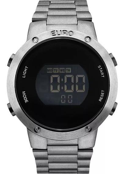 Relógio Euro Digital Grafite Eubj3279ab/4p Sabrina Sato Original Com Garantia