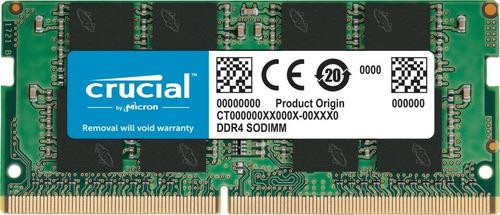 Imagen 1 de 6 de Memoria Ram Notebook Ddr4 16gb 2666mhz Crucial Basic Sodimm