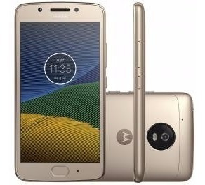 Moto G5 32 Gb Ouro Cam. 13mp Octa Core Desbl. Tela 5 4g
