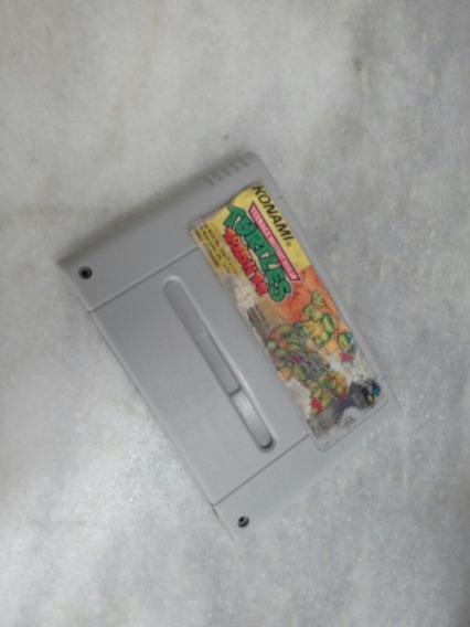 Cartucho Super Famicon Tartaruga Ninja Snes Super Nintendo