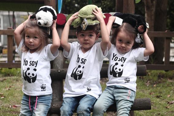 Camiseta Yo Soy Panda Wwf Niño Niña Donación Sugerida