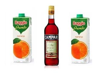 Combo Previa Campari 450ml + 2 Baggio 1l. Avellaneda.