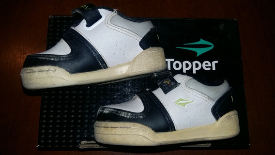 Zapatillas Topper Tenis Cuero Talle 21 Usadas