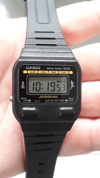 Relíquia Casio Jogging J-30w Japan Anos 80 Raríssimo = Novo