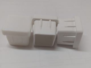 1300 Ponteira Branca Interna Metalon 20x20
