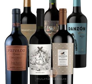 Vinos Degustación Malbec Caja X6 Botellas Mulata Bebidas