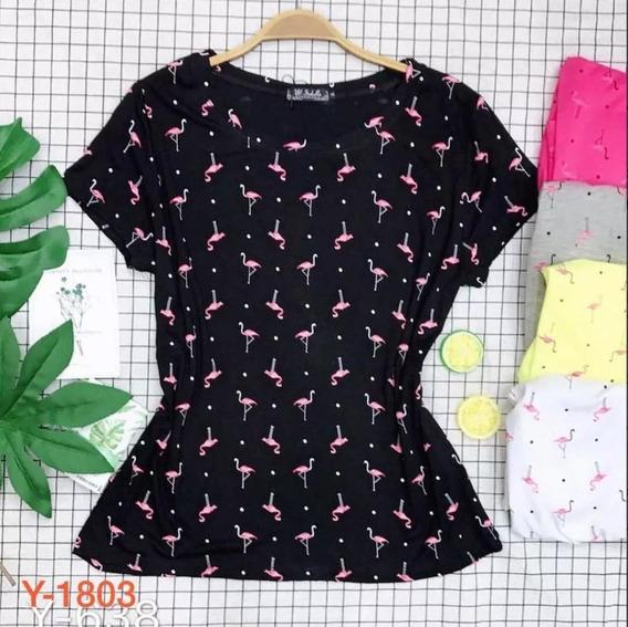 2 Camiseta Feminino Tshirt Blusa Moda Instagram Floral