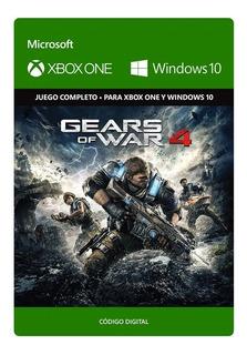 Gears Of War 4 Xbox One Y Pc Código Digital