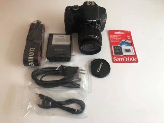 Câmera Canon T2i + Lente 18-55 Is 10 Mil Clicks Frete Grátis
