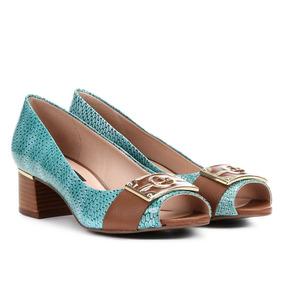 cb92f27da Peep Toe Drezzup Salto Grosso - Sapatos no Mercado Livre Brasil