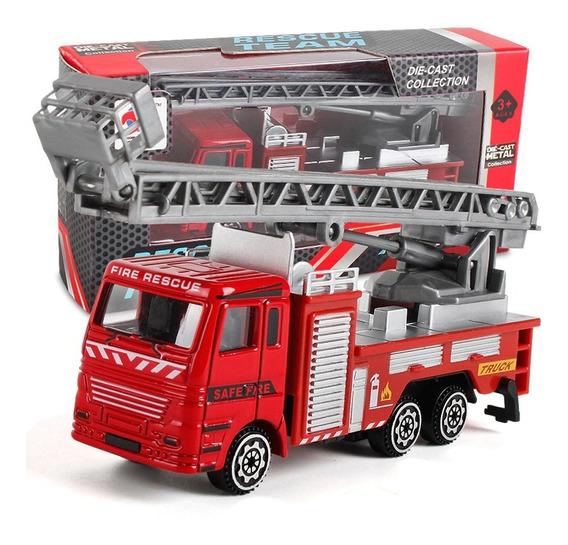 Brinquedo Miniatura Caminhão De Bombeiro