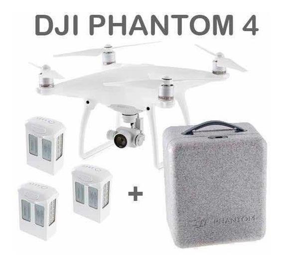 Drone Dji Phantom 4 Com 3 Baterias-poucos Voos Homologado-nf