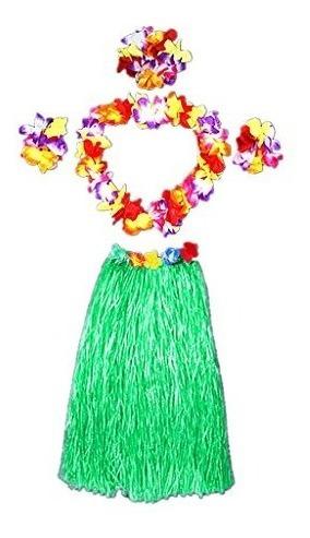 Traje De Traje De Adulto De Falda De Hierba De Hawaii Dancin