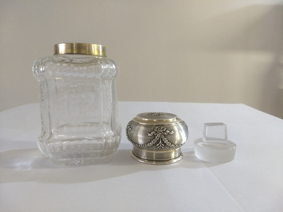 Perfumeiro Vitoriano Cristal Baccarat C/ Prata Lei Mercúrio